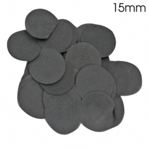 Black Tissue Paper Confetti for Balloons | 15mm Round 14g Bag